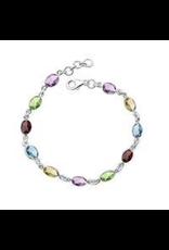 Stones & Silver 12 Stone Multi Bracelet
