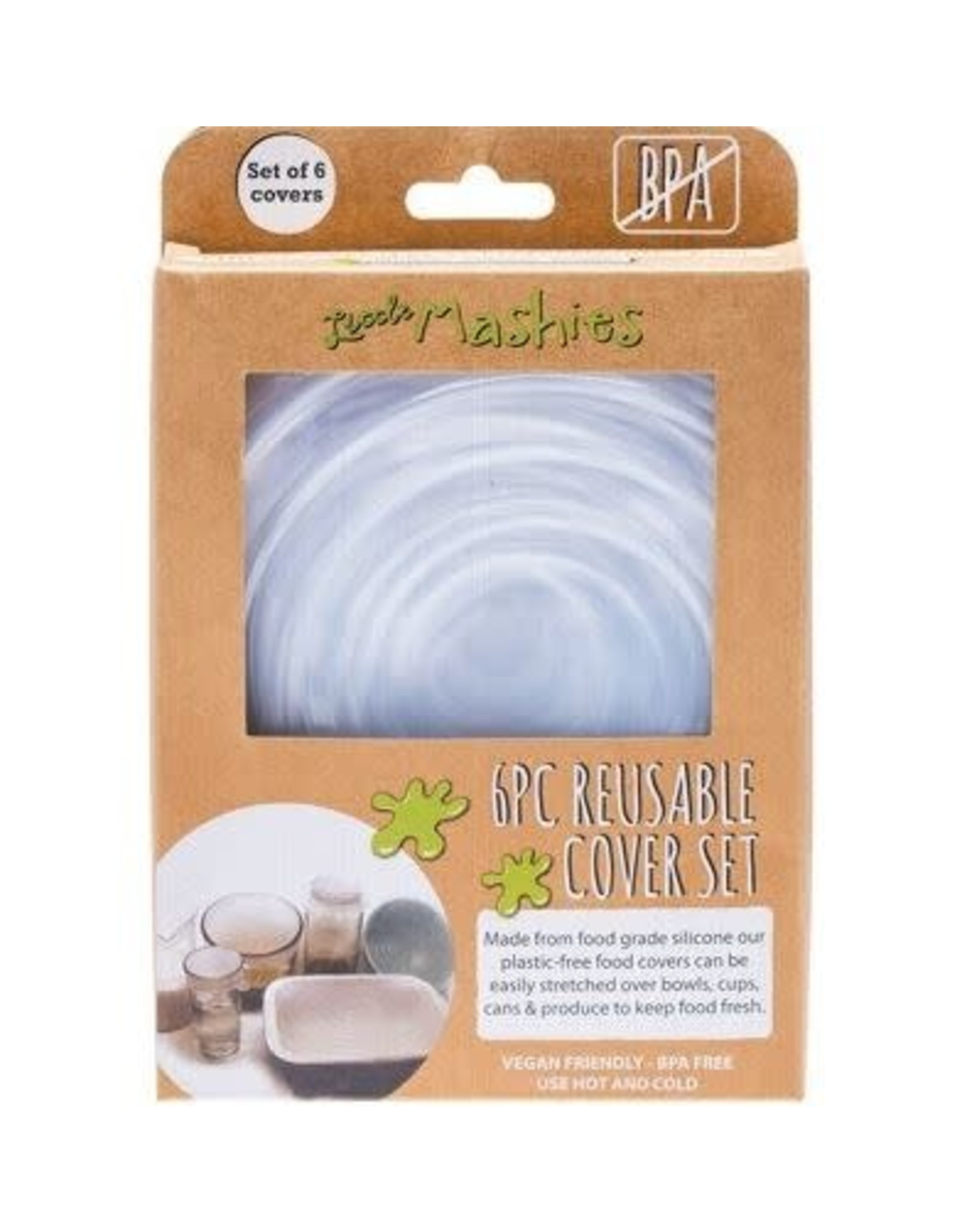 Little Mashies Reusable Bowl Cover Set - Pack of 6