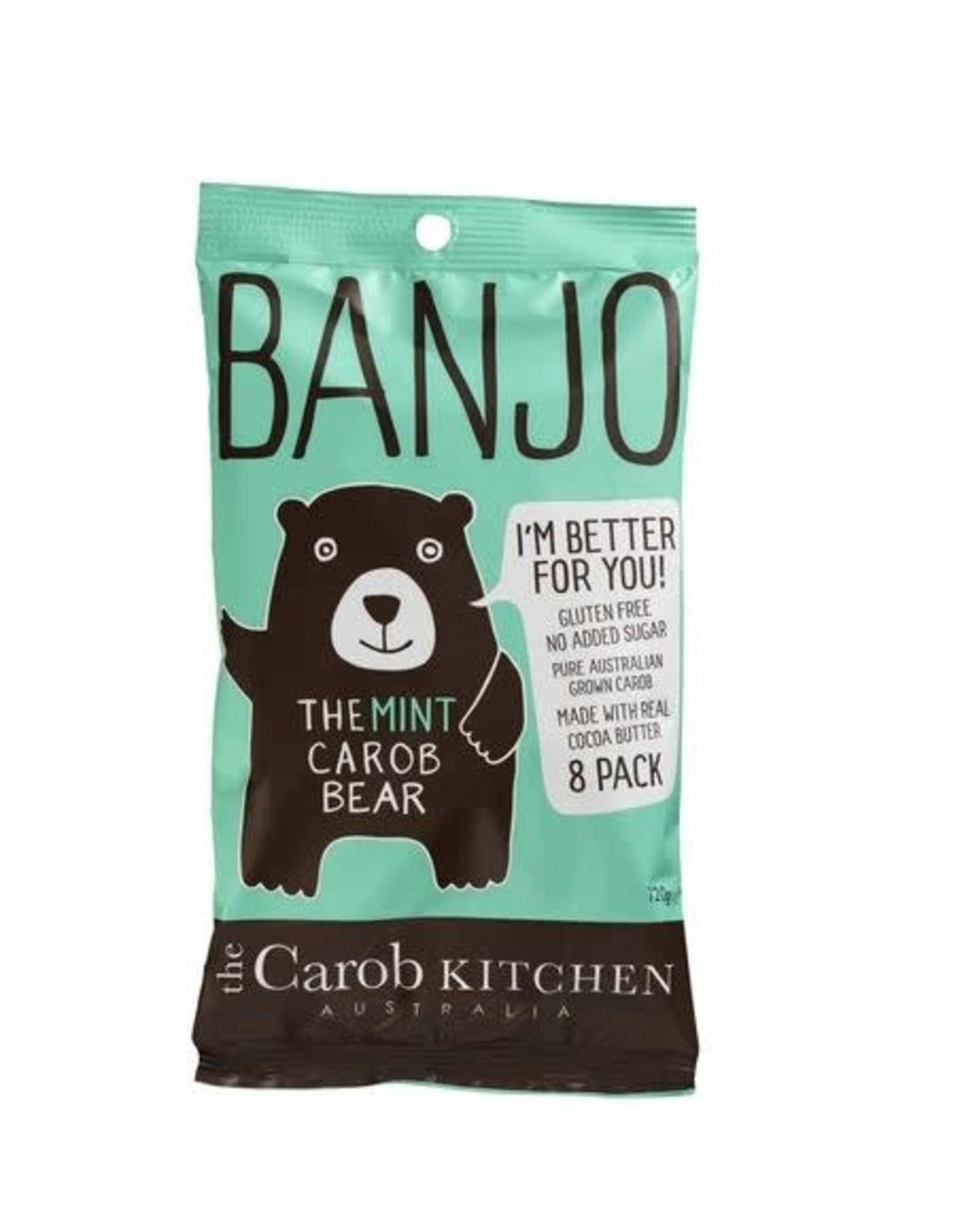 The Carob Kitchen Banjo Bear Mint 8 pack 120g