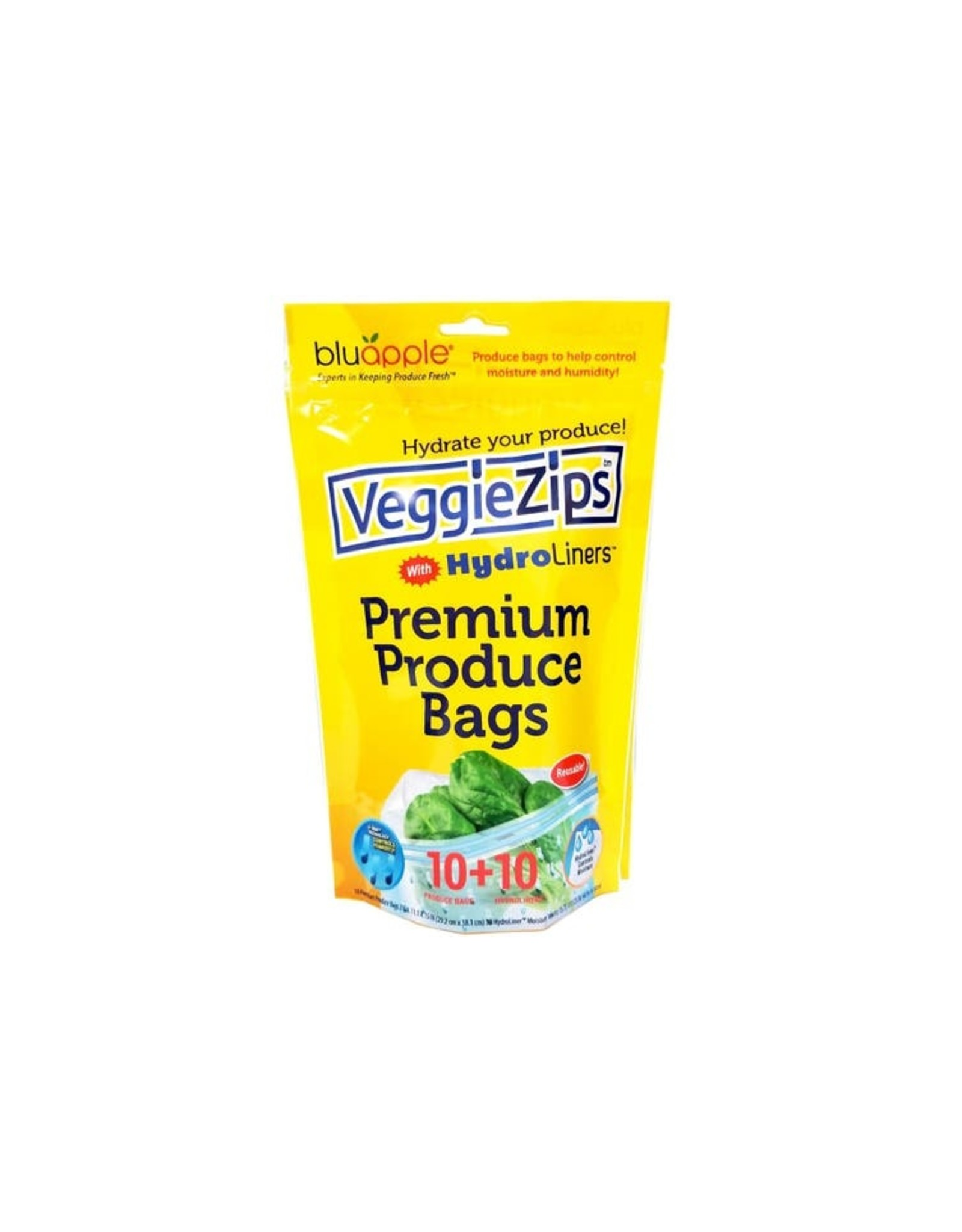 Bluapple VeggieZips Premium Produce Bags