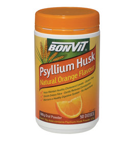 Bonvit Psyllium Husks Natural Orange Flavour - 500g