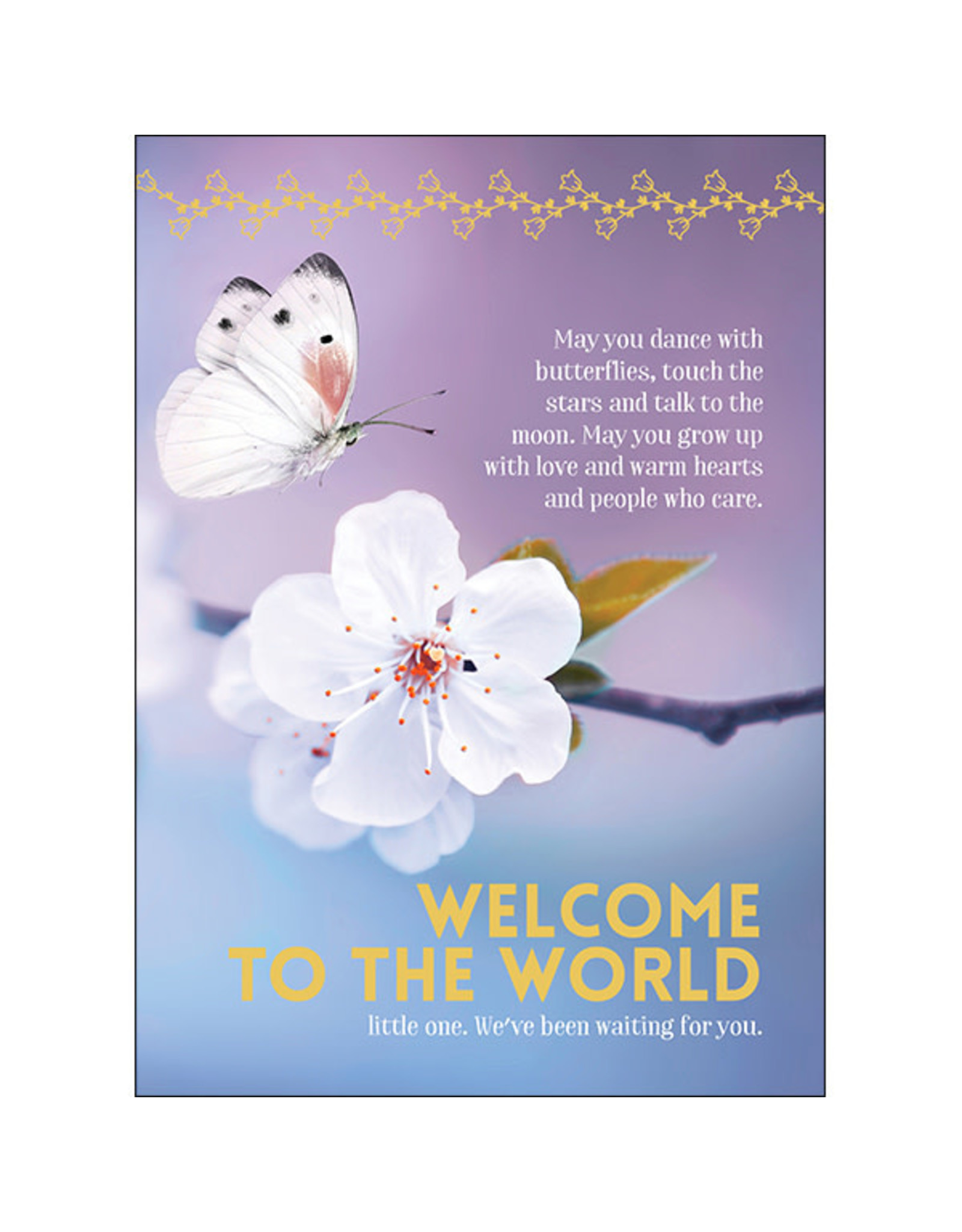 Affirmations Publishing House Greeting Card - May You Dance With Butterflies