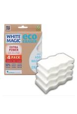 White Magic Eraser Sponge Extra Power 4pk