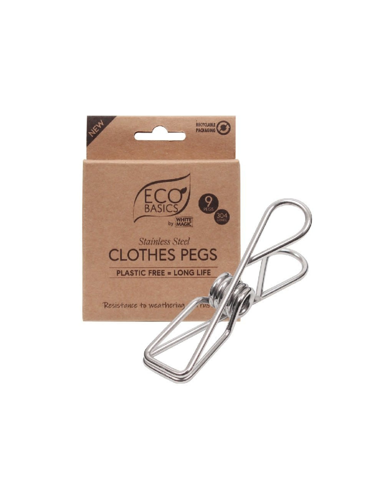 Eco Basics Clothes Pegs - Stainless Steel - 9pk