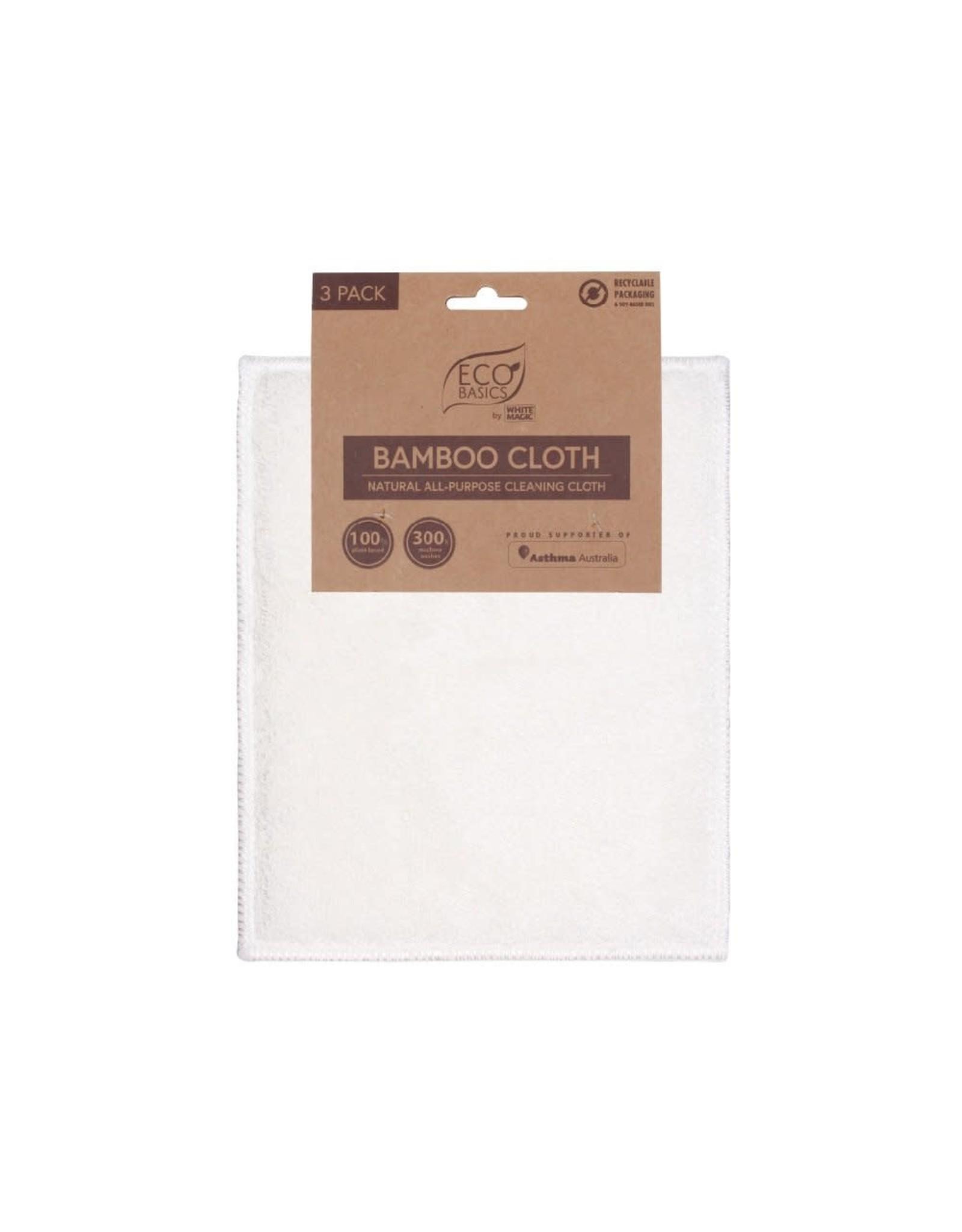 White Magic Bamboo Cloth 3pk