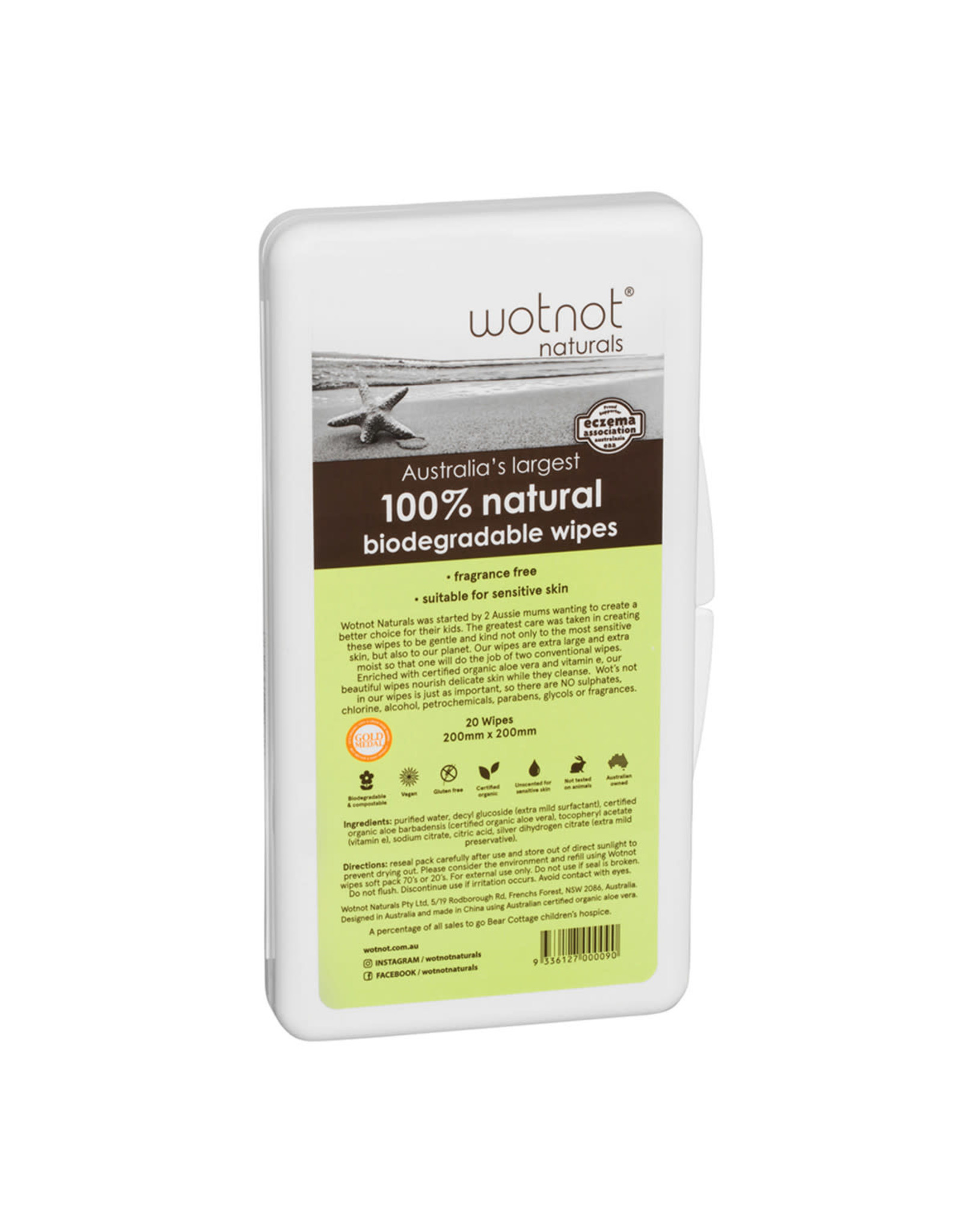 Wotnot Extra Large Travel Wipes with Travel Case pk20