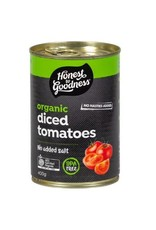Honest To Goodness Diced Tomatoes Organic 400g
