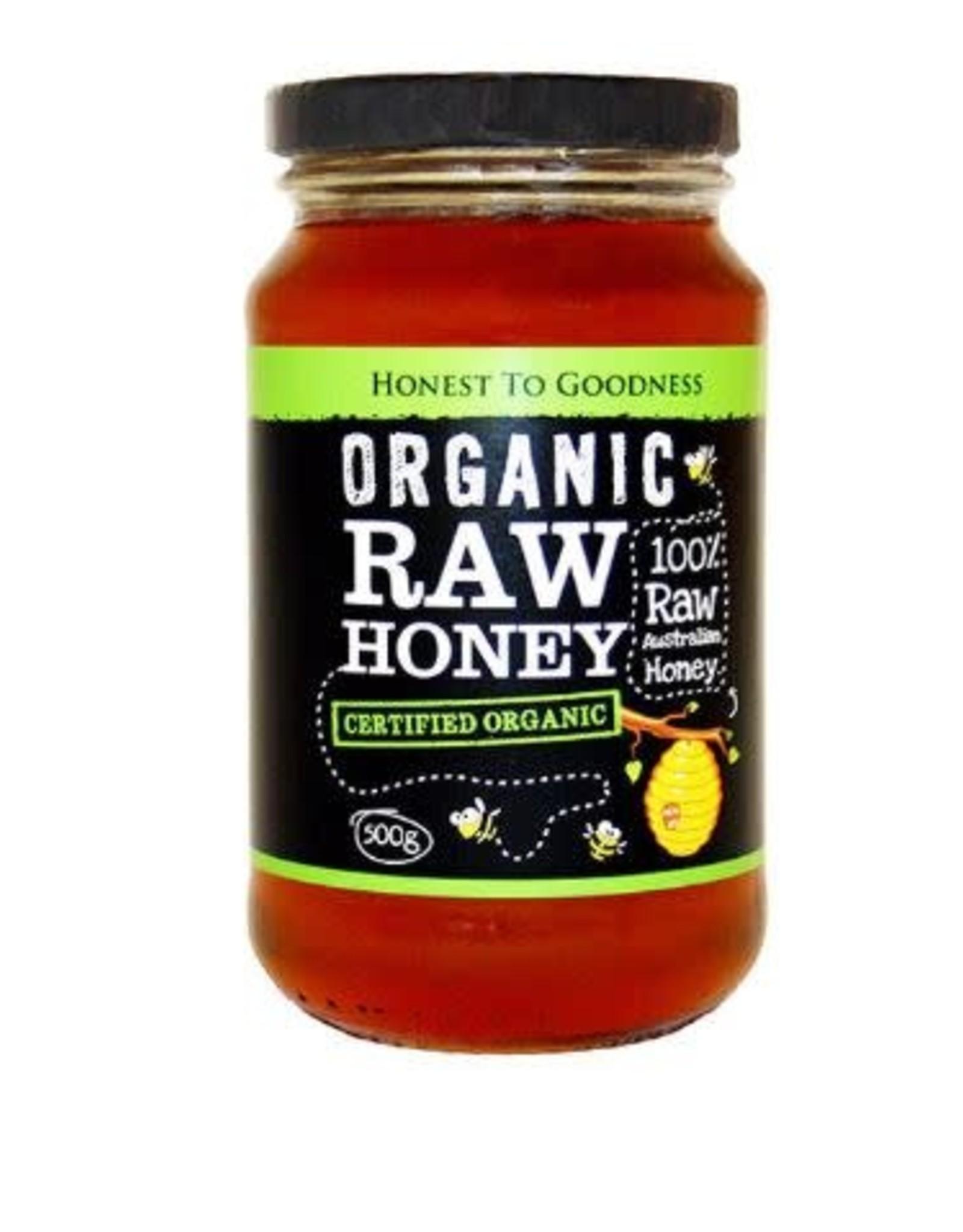 Honest To Goodness Organic Raw Honey 500g