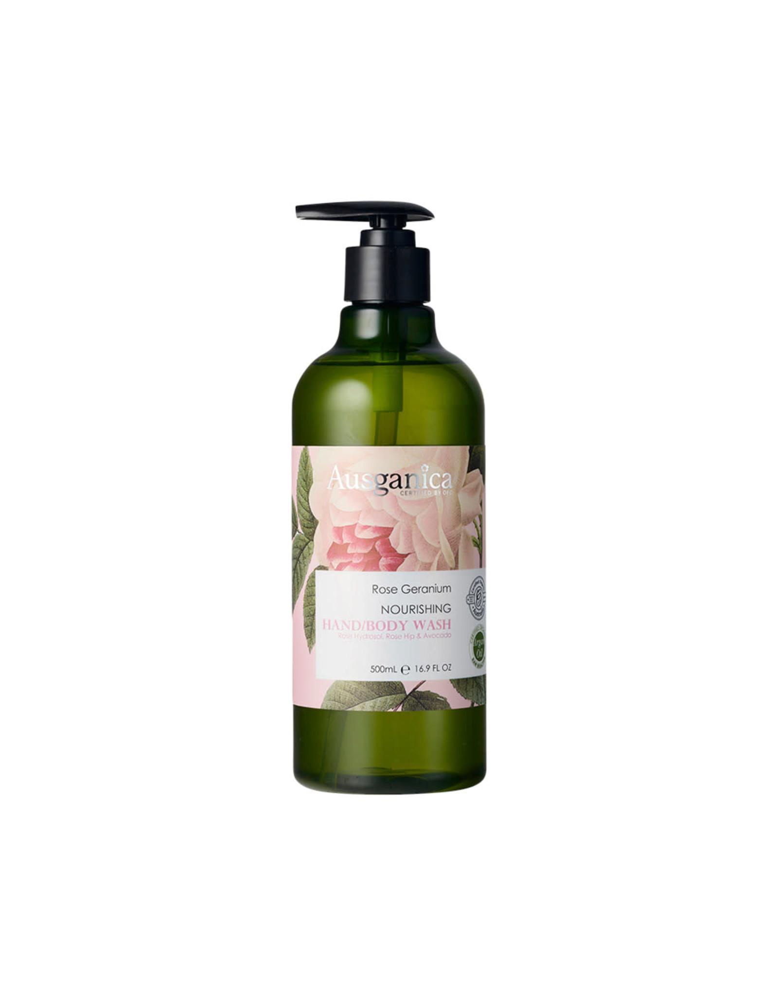 Ausganica Rose Geranium Hand/Body Wash 500ml