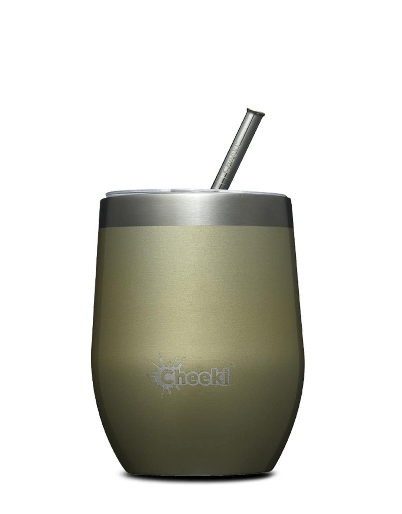 Cheeki Insulated Wine Tumbler with Stainless Steel Straw