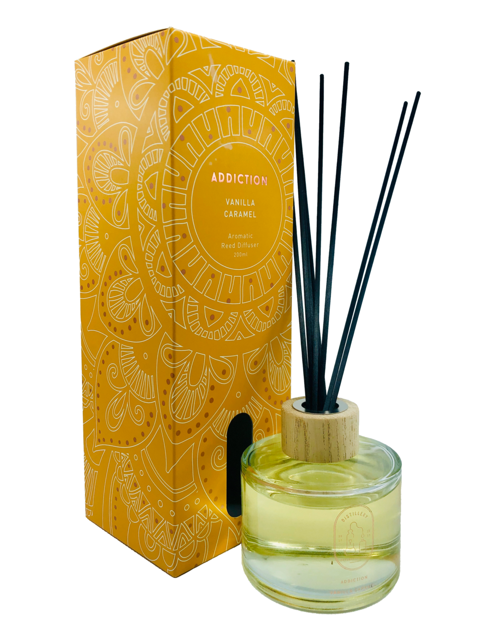 Distillery Fragrance House Reed Diffuser Addiction Vanilla Caramel 200ml