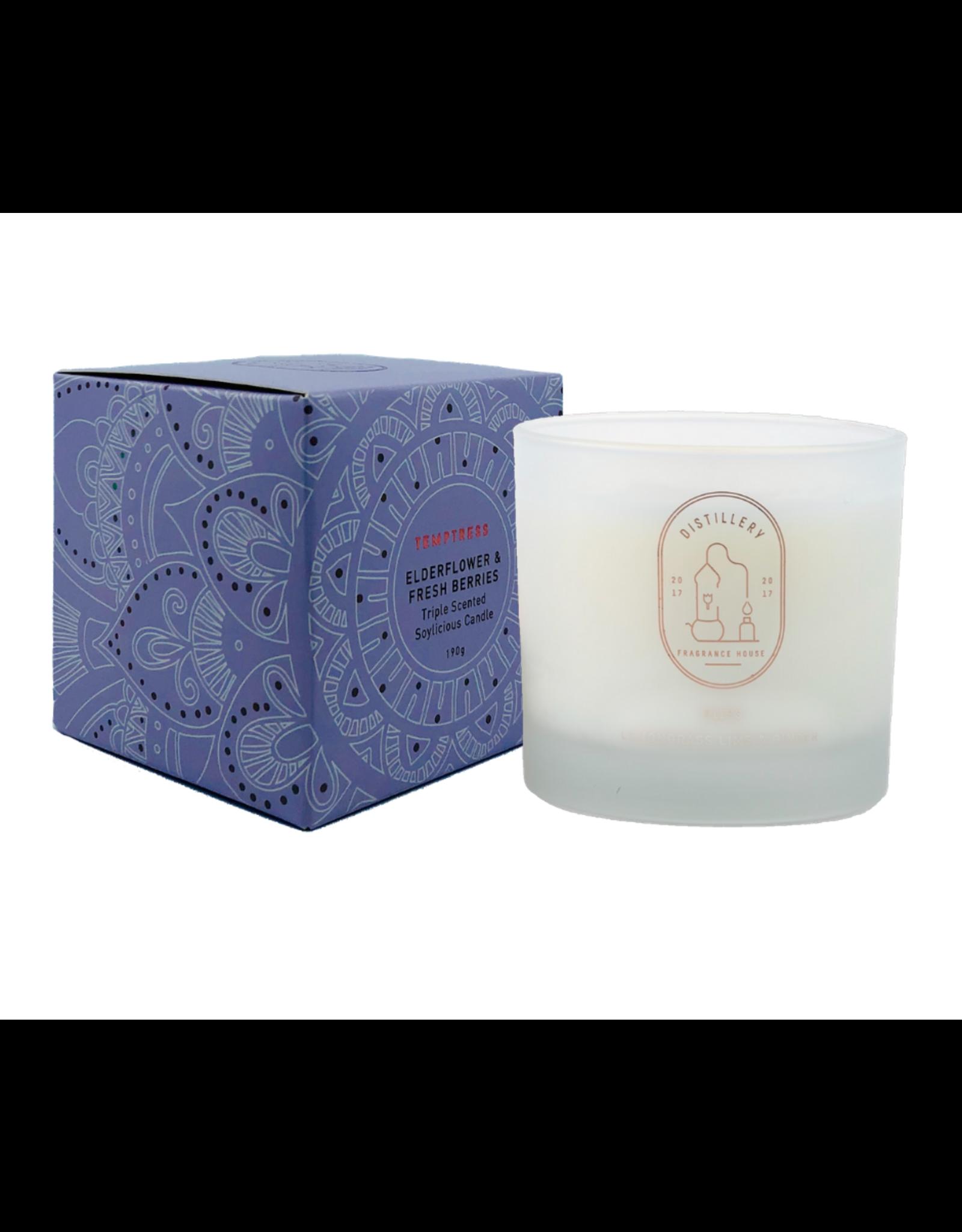 Distillery Fragrance House Soy Candle - Elderflower & Fresh Berries