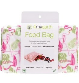 4MyEarth Food Bag Flamingoes 25 x 20cm