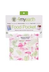 4MyEarth Food Pocket  Flamingoes 14 x 14cm