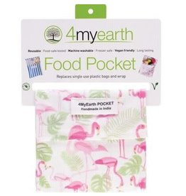 4MyEarth Food Pocket  Flamingoes 14 x 14cm