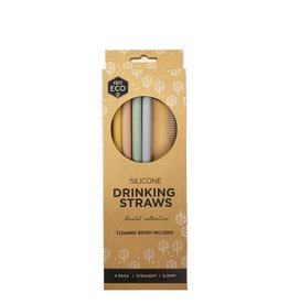 Ever Eco Silicone Drinking Straws Straight 4 pack