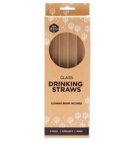 Ever Eco Glass Drinking Straws Pk 4