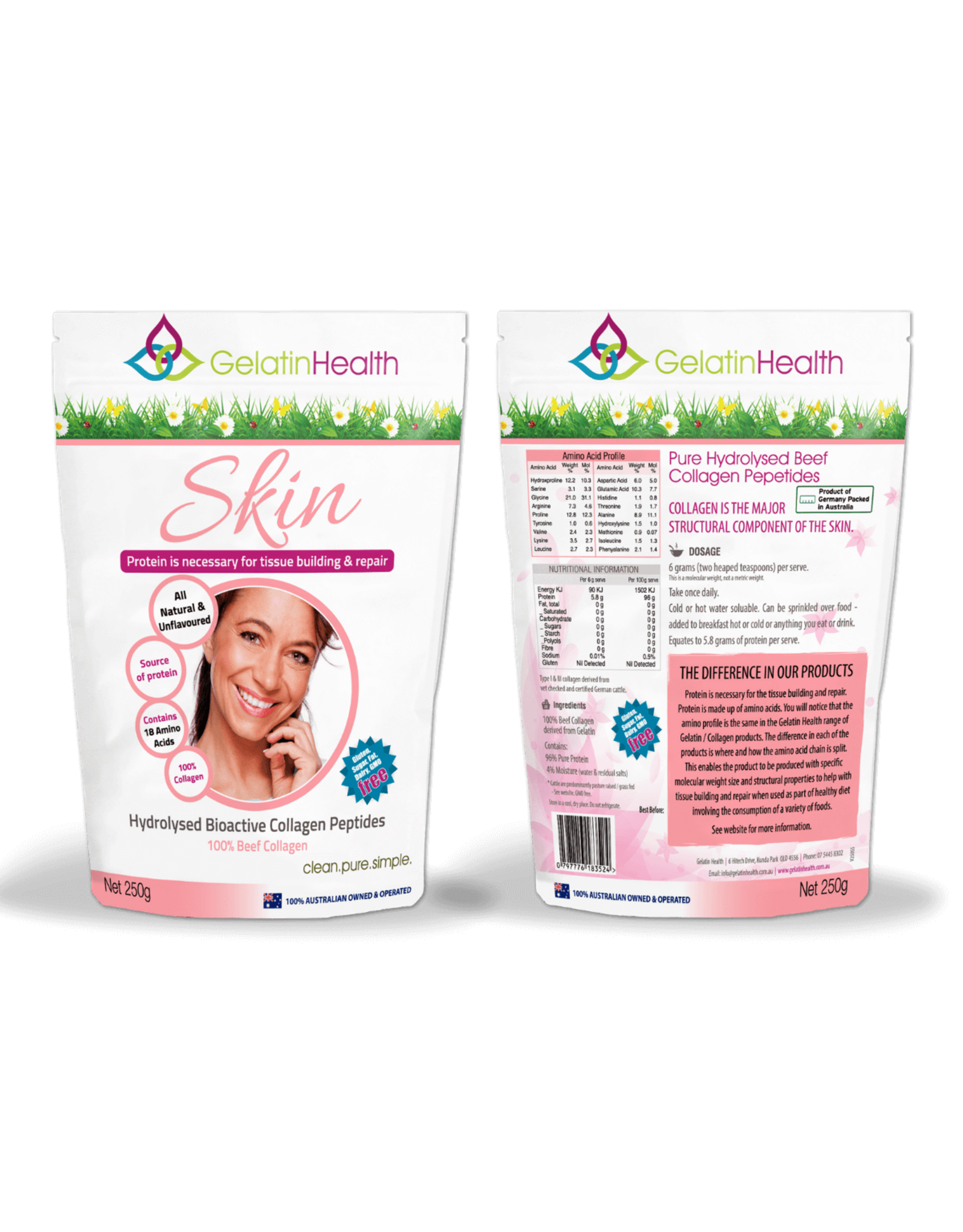 Gelatin Health Skin Collagen
