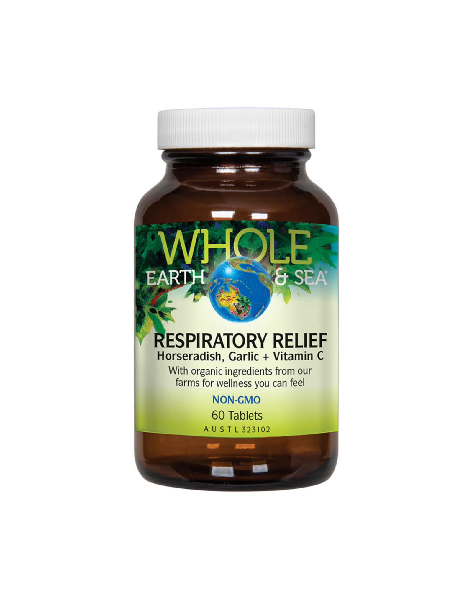 Whole Earth & Sea Respiratory Relief (Horseradish, Garlic + Vitamin C) 60t