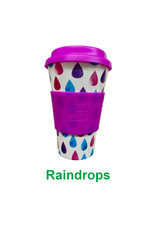 Luvin Life Bamboo Travel Cup Raindrops - 430ml