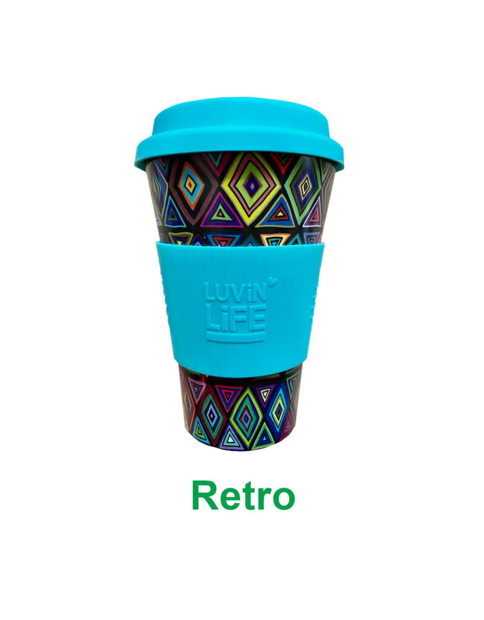 Luvin Life Bamboo Travel Cup Retro - 430ml