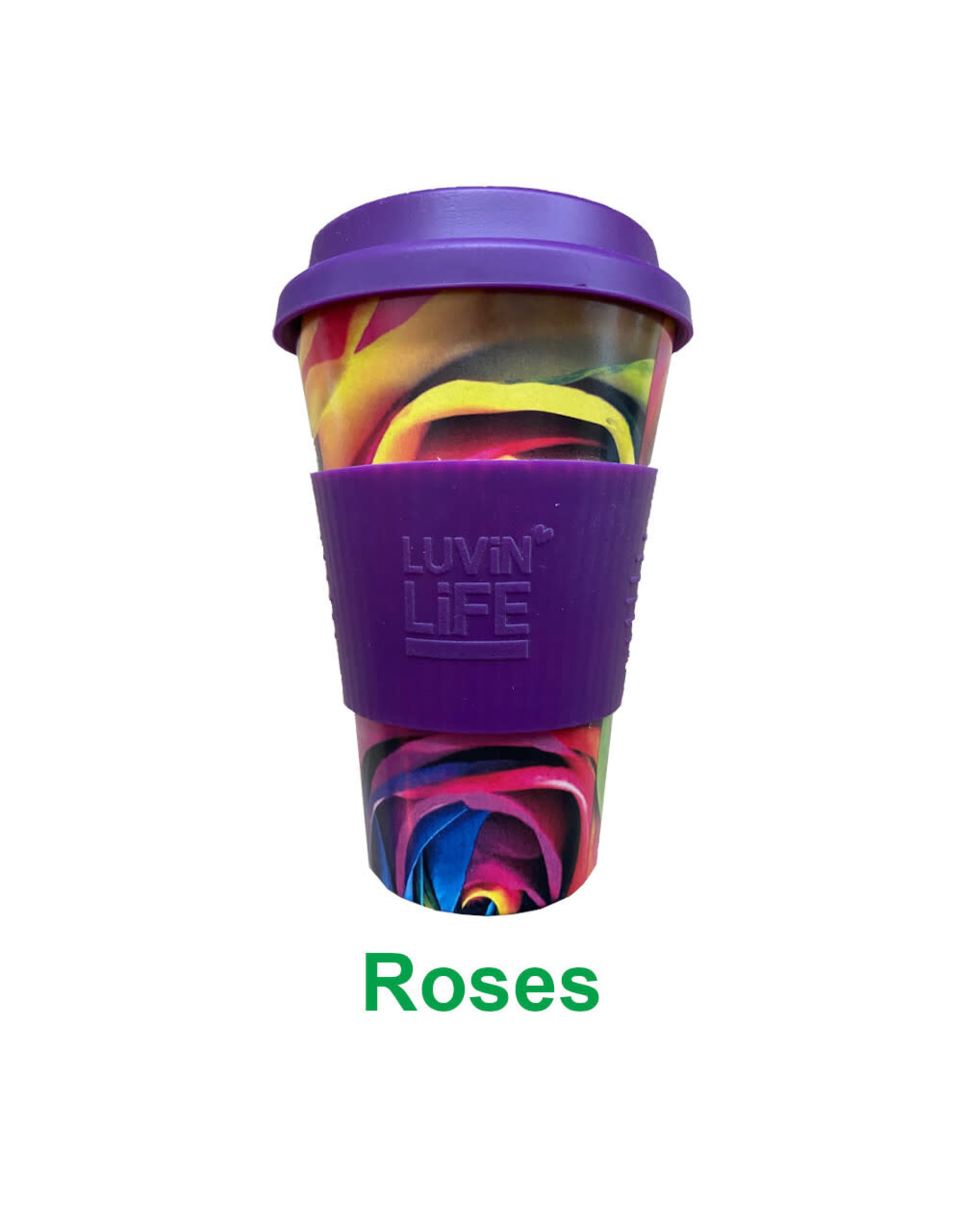 Luvin Life Bamboo Travel Cup Rose - 430ml