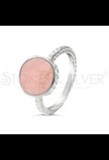 Stones & Silver Rose Quartz Ring 1cm