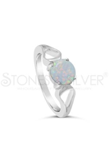 Stones & Silver Opal Ring