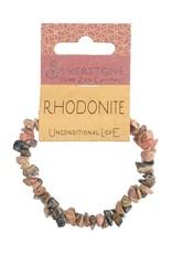 Silverstone Crystal Chip Bracelet - Rhodonite - Eco Range