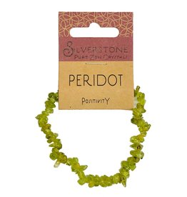 Silverstone Crystal Chip Bracelet - Peridot - Eco Range
