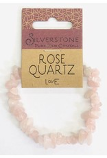 Silverstone Crystal Chip Bracelet - Rose Quartz - Eco Range
