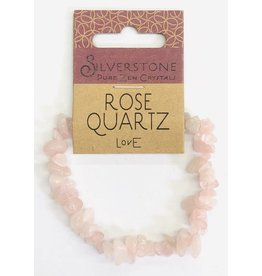 Silverstone Crystal Chip Bracelet - Rose Quartz - Eco Range