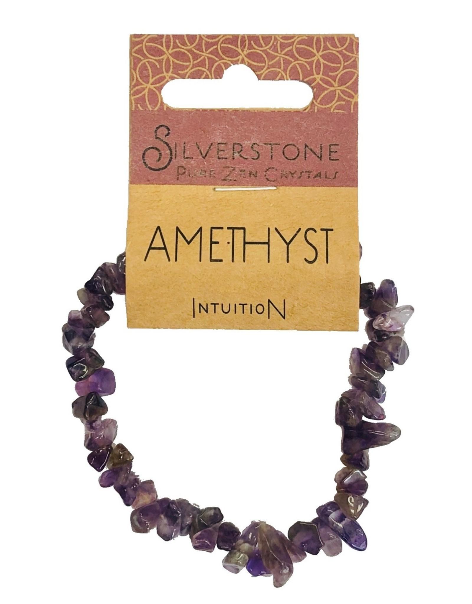 Silverstone Crystal Chip Bracelet - Amethyst - Eco Range