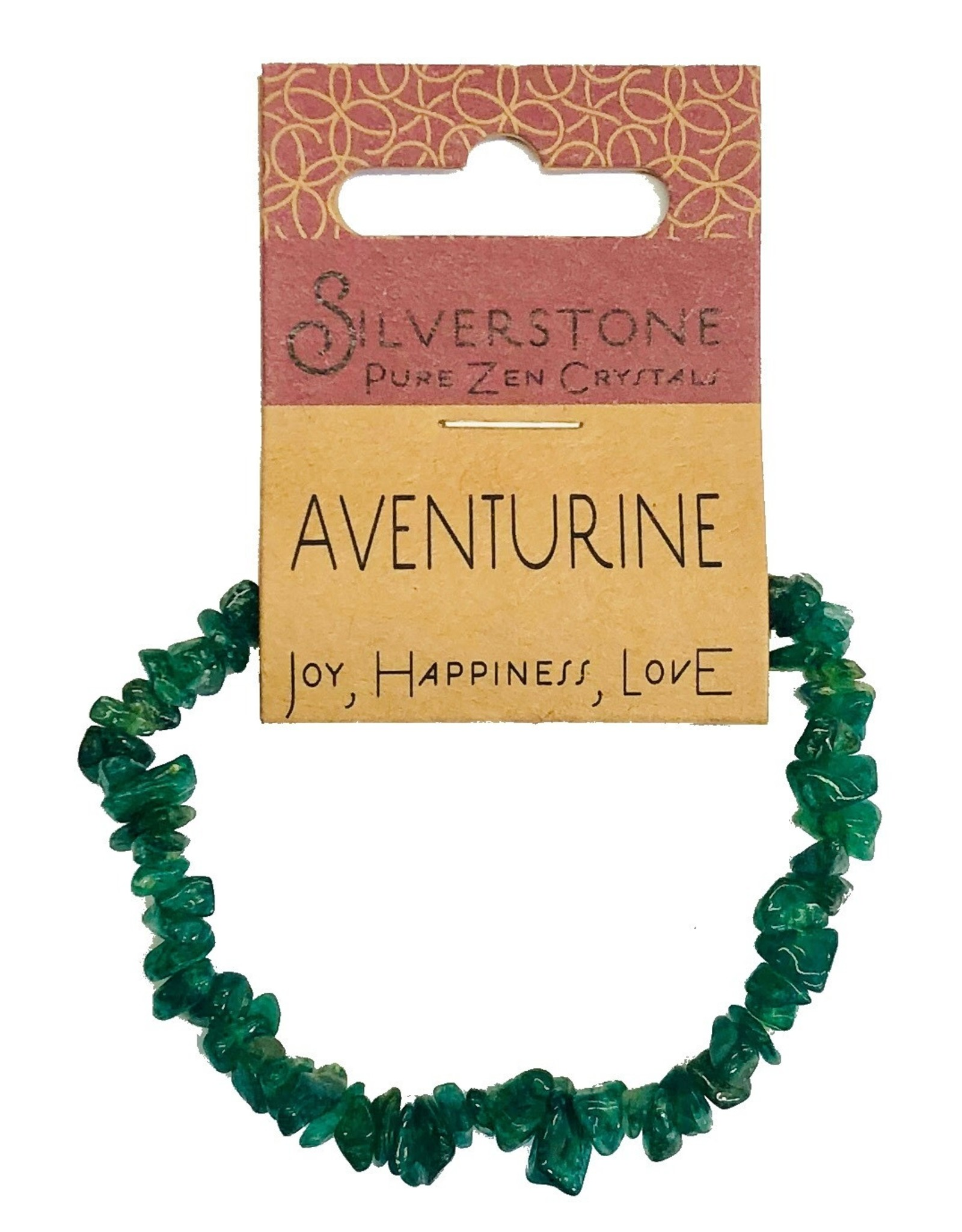 Silverstone Crystal Chip Bracelet - Aventurine - Eco Range