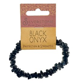Silverstone Crystal Chip Bracelet - Black Onyx - Eco Range