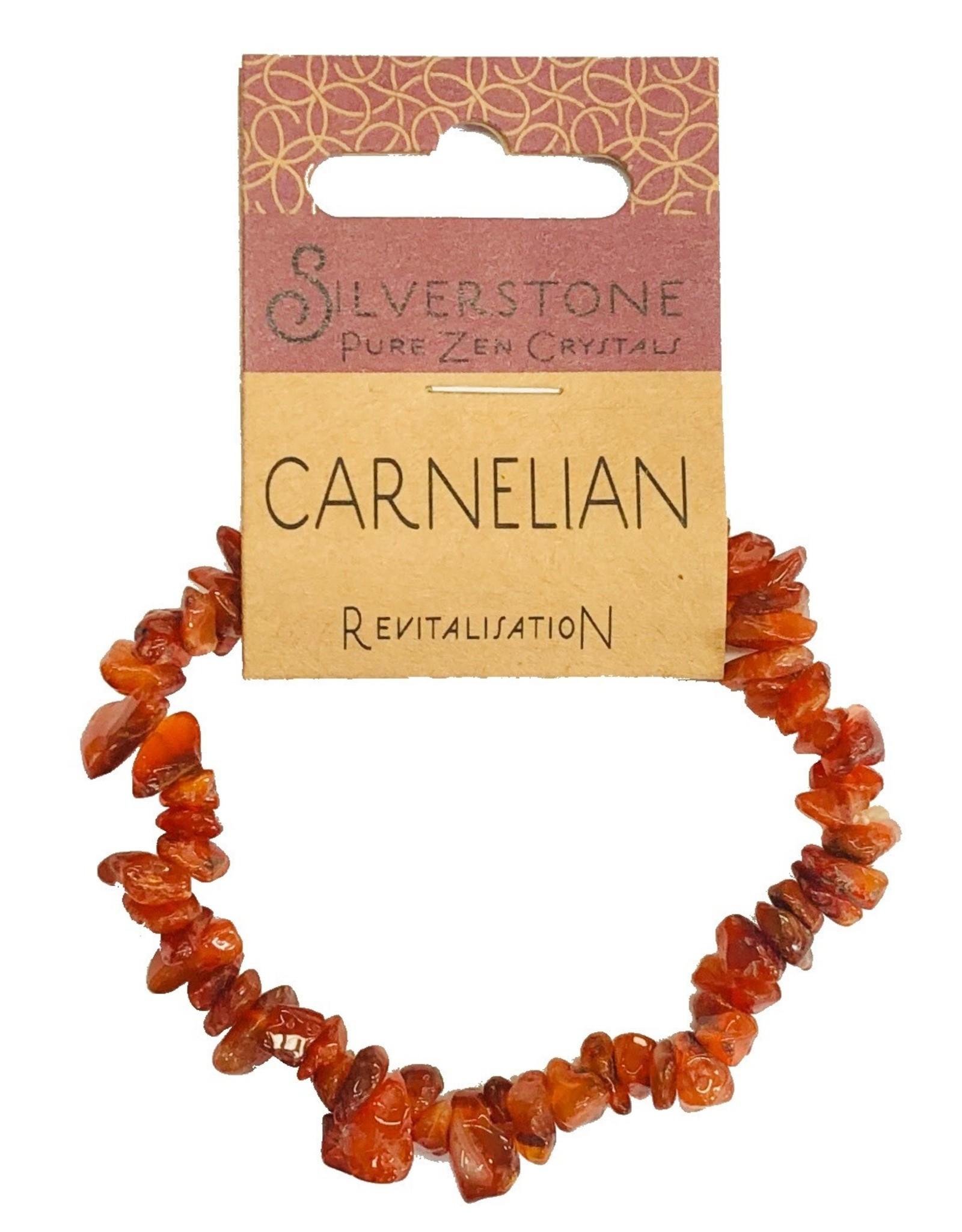 Silverstone Crystal Chip Bracelet - Carnelian - Eco Range