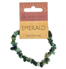 Silverstone Crystal Chip Bracelet - Emerald - Eco Range