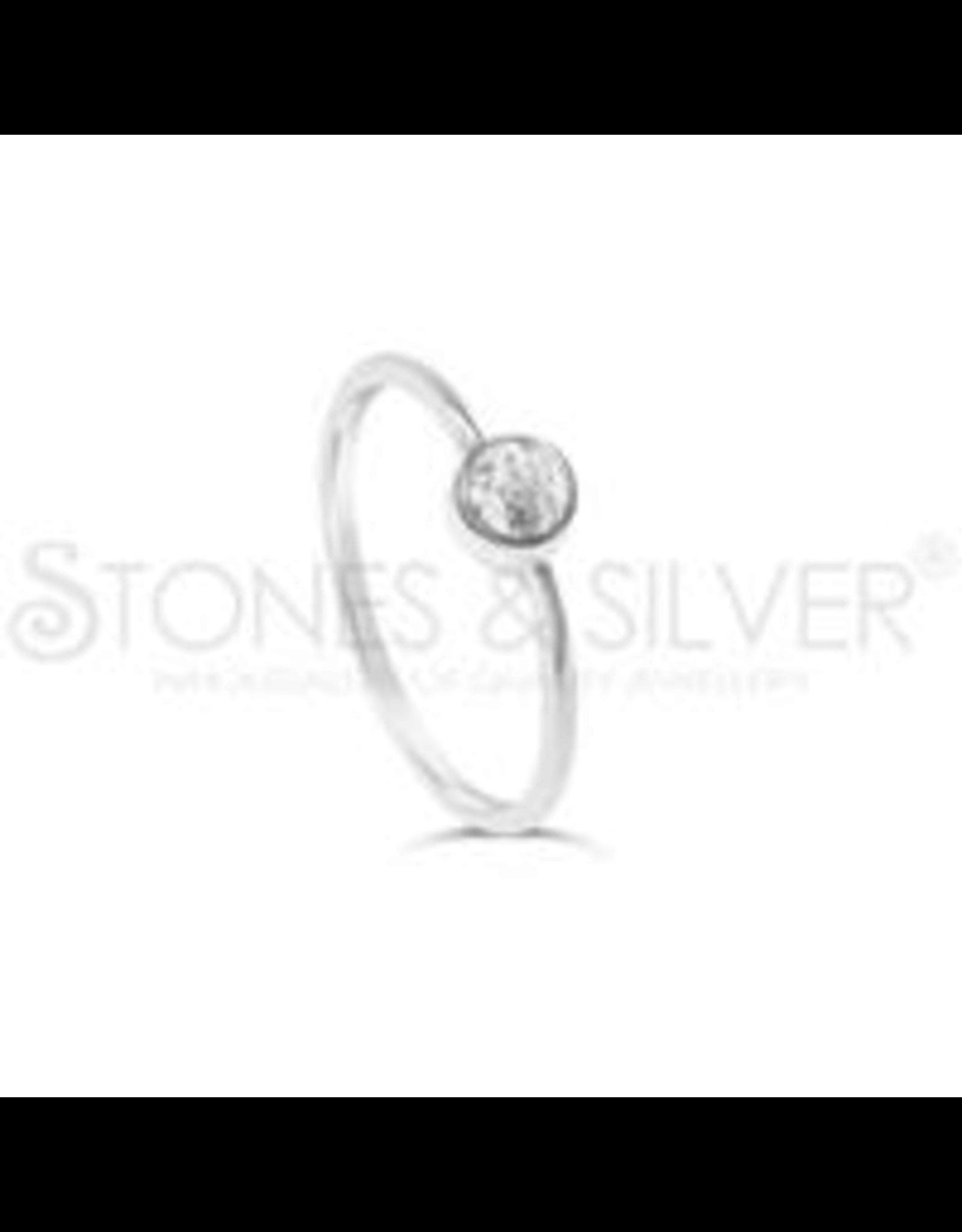 Stones & Silver Clear Quartz Ring 4mm