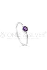 Stones & Silver Amethyst Ring 4mm