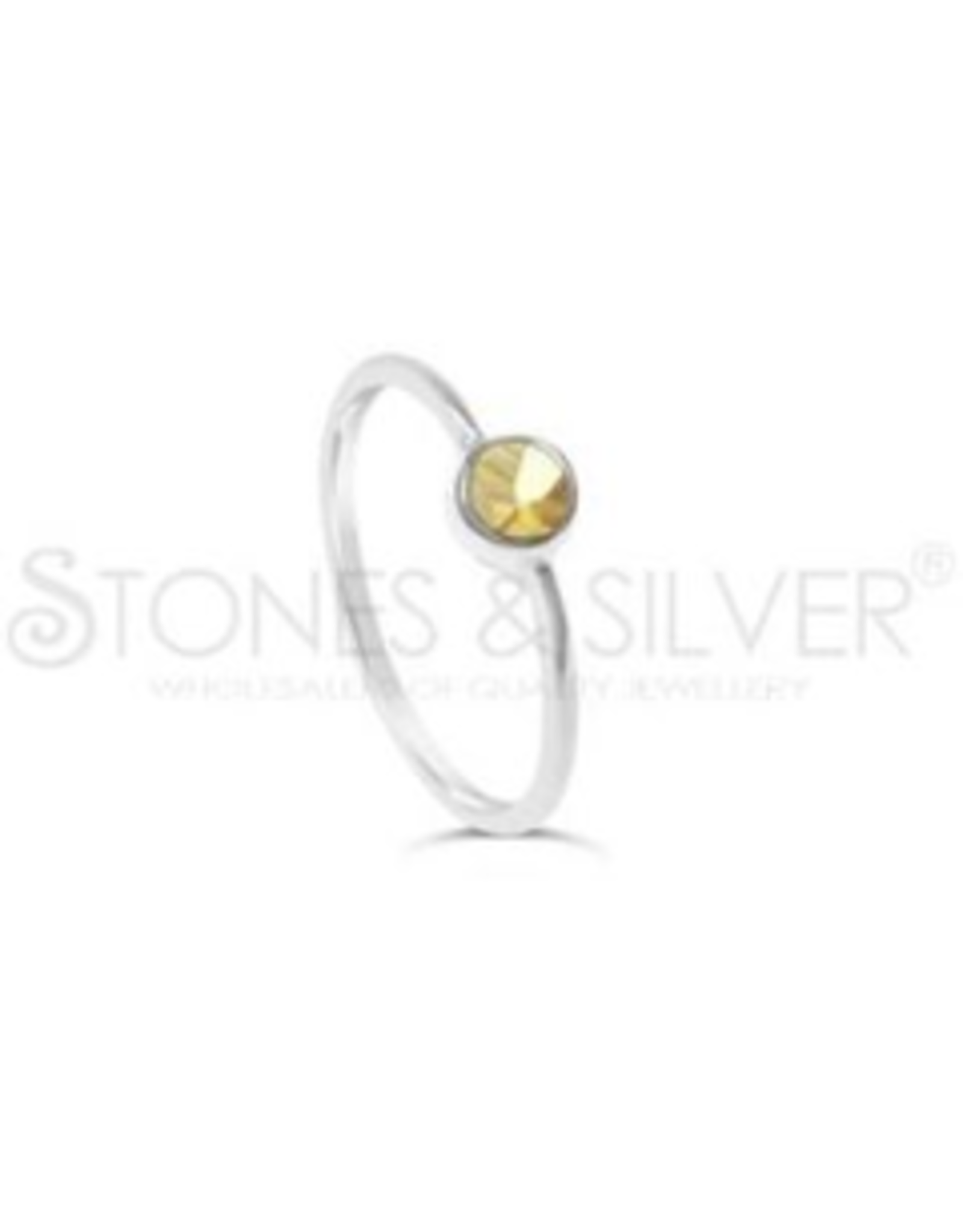 Stones & Silver Citrine Ring 4mm