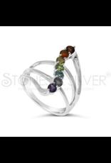 Stones & Silver Chakra Ring