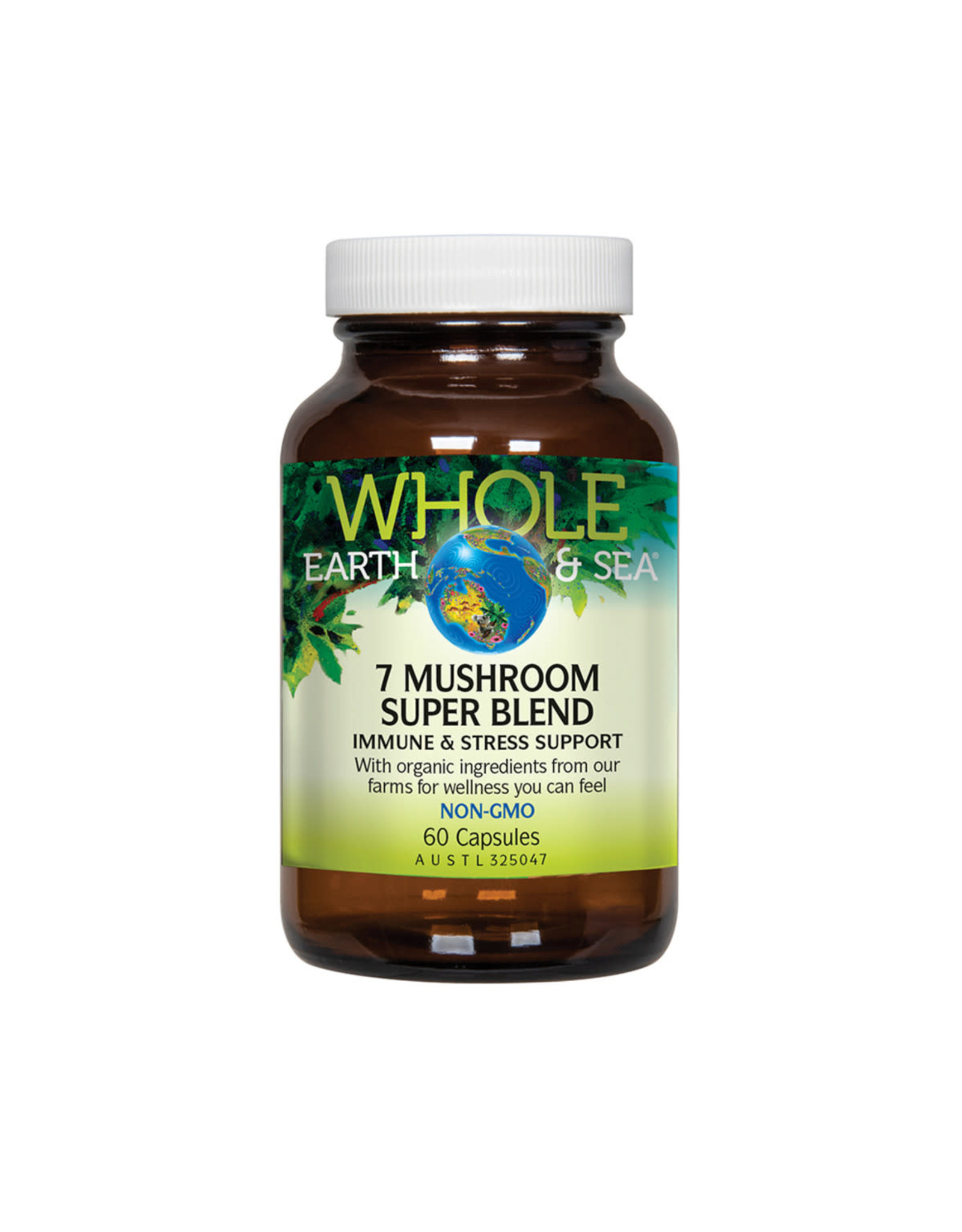 Whole Earth & Sea 7 Mushroom Super Blend 60c