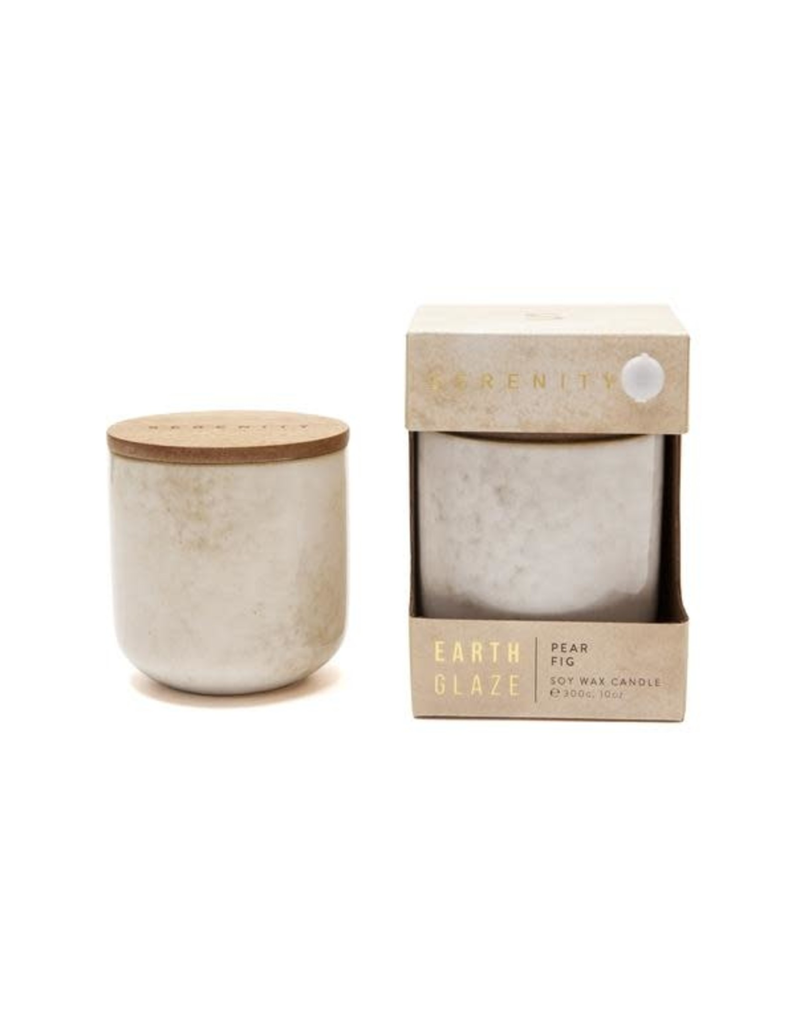Earth Glaze Scented Candle - Pear Fig - 10oz