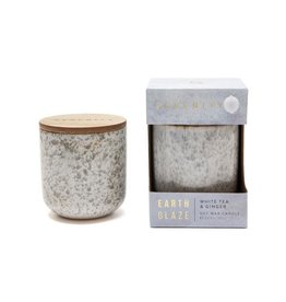 Earth Glaze Scented Candle - White Tea & Ginger - 10oz