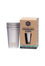 Ever Eco Stainless Steel Drinking Cups pk 4