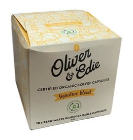 Oliver & Edie Certified Organic Coffee Capsules - Zero Waste Biodegradable 10pk