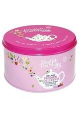 English Tea Shop Organic Round Gift Tin Nylon Pyramind 30 bags