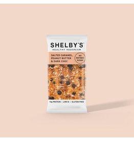 Shelby's Healthy Hedonism Salted Caramel, PB & Dark Choc 40g