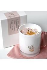 Crystalline Wellness Large Glass Soy Candle - Rose Quartz