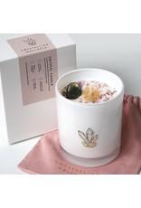 Crystalline Wellness Large Glass Soy Candle - Labardorite